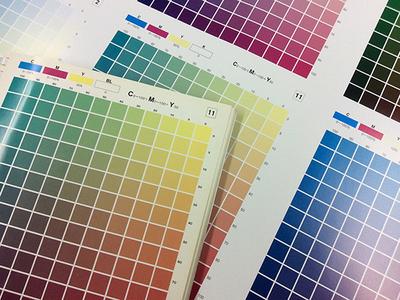 カラーチャートを印刷テスト